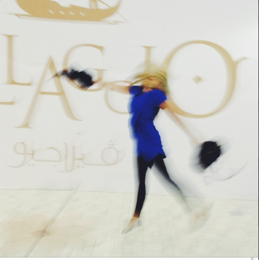 Overexcited shopping in Villagio Mall, Doha - inspired by images of happy shoppers around the (currently unoccupied) Pearl