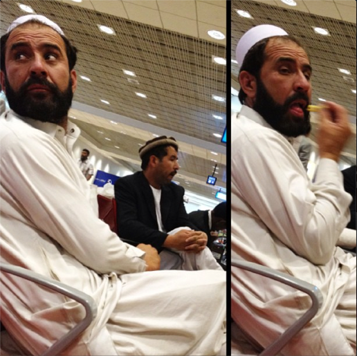 Man stealing chips, T2, Dubai